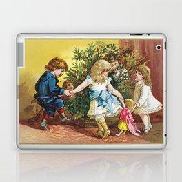 Vintage Christmas Card 1880 Julekort Laptop & iPad Skin