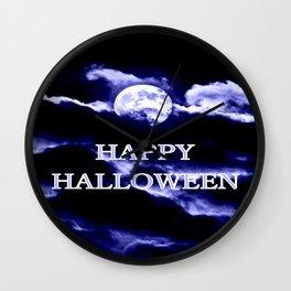 Halloween Blue Moon Wall Clock