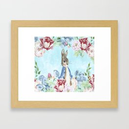 Hoppy The Bunny Framed Art Print