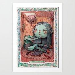 A Mental Holiday Art Print