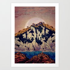 Guiding me across Nobe Art Print
