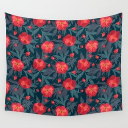Bright peonies Wall Tapestry