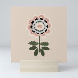 Pretty Minimalist Flower Scandinavian Style Nordic Wall Art Print by Tulip House Studio Mini Art Print