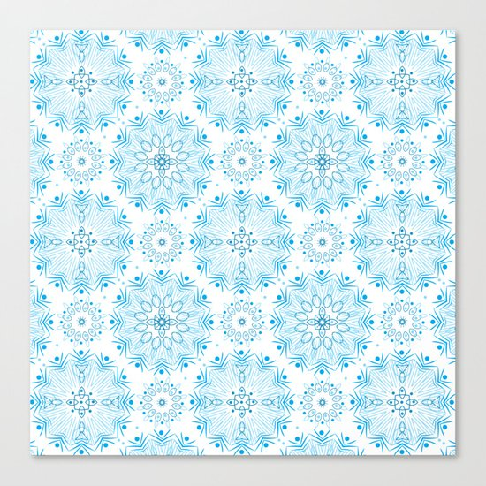 Winter . White and blue Canvas Print