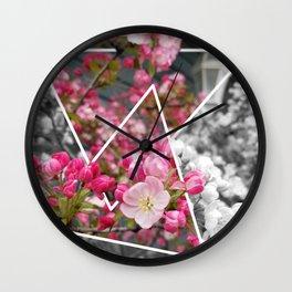 Coralburst Triangles Wall Clock