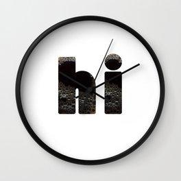 hi coffee Wall Clock