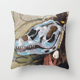 Bear Bones Throw Pillow