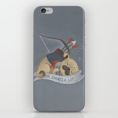 Sir Snores-A-Lot iPhone & iPod Skin