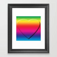 One Heart Rainbow Framed Art Print