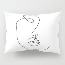 Minimal Abstract Line Face Pillow Sham