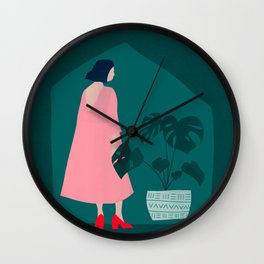 Dress Up to Stay In Wall Clock