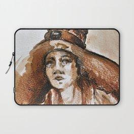 Woman With Big Sun Hat Ultra HD Laptop Sleeve