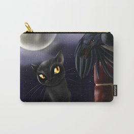Cat and Crow - A Chance Meeting Carry-All Pouch