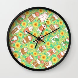 Sunflower Movement Wall Clock