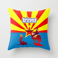 arizona Throw Pillows featuring Arizona by Anfelmo