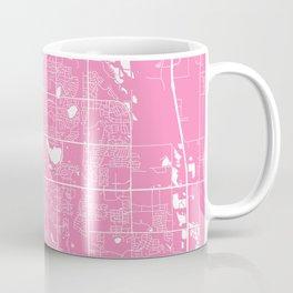 Fort Collins map pink Coffee Mug