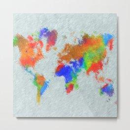Design 78 World Map Metal Print