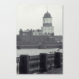 Vyborg Castle Gloom Canvas Print