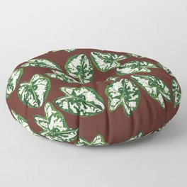 Single leaf with white patches Floor Pillow