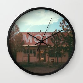 Boundary Peak abandoned motel Wall Clock