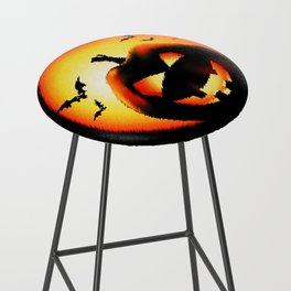 Smile Of Scary Pumpkin Bar Stool