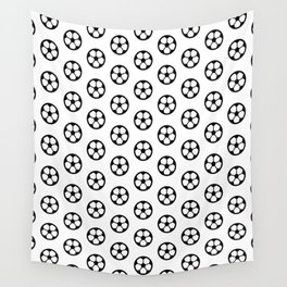 Simple Soccer Ball Motif Pattern Wall Tapestry