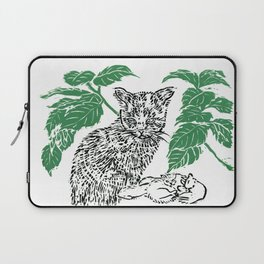 woodblock print Laptop Sleeve