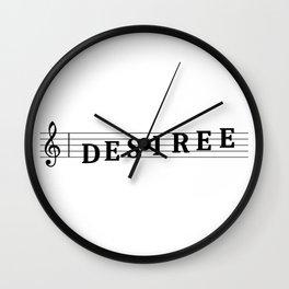 Name Desiree Wall Clock
