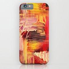 RHAPSODY IN MAGENTA- Beautiful BOLD Modern Abstract Wild Acrylic Painting Crimson Hot Pink Purple Slim Case iPhone 6s