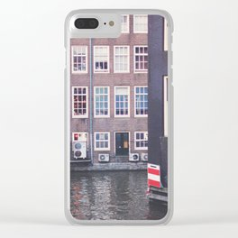 Red Light Canal Clear iPhone Case