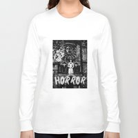 horror Long Sleeve T-shirts featuring Horror by alexflasher
