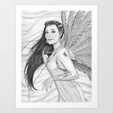 The Mythical Flying Idzit Art Print
