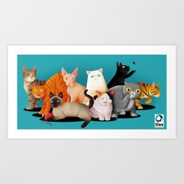 Gatos / Cats Art Print