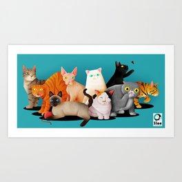 Gatos / Cats Art Print