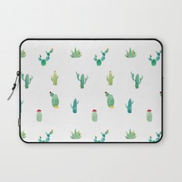 Summer pattern with cacti and yellow cats ! Laptop Sleeve