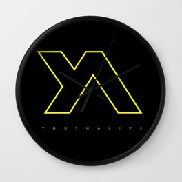 Youth Alive Yellow & Black on Black Wall Clock