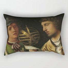 """Giorgione """"Giovanni Borgherini and His Tutor"""" Rectangular Pillow"""