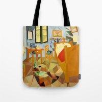 van Tote Bags featuring van gogh by gazonula