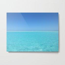 Tropical Turquoise Sea Metal Print