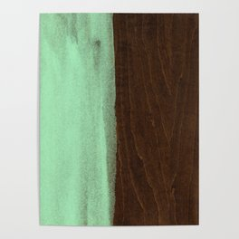Mint Green Paint on Wood Poster