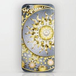 Golden Moon and Sun iPhone Skin