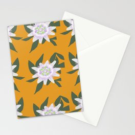 Passion Flower Pattern Stationery Cards