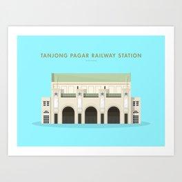 Tanjong Pagar Railway Station, Singapore [Building Singapore] Art Print