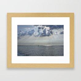 Sun-rays on the Solent. Framed Art Print