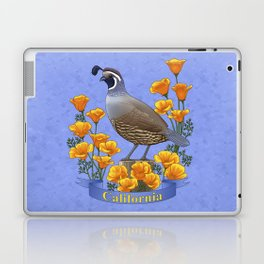 California State Bird Quail and Golden Poppy Laptop & iPad Skin