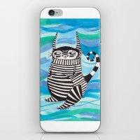 rubyetc iPhone & iPod Skins featuring stripy fella by rubyetc