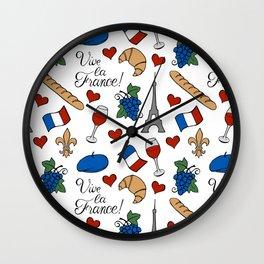 Vive la France! Wall Clock
