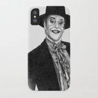 jack nicholson iPhone & iPod Cases featuring jack nicholson jocker by calibos
