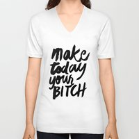 motivation V-neck T-shirts featuring Motivation by Motivational