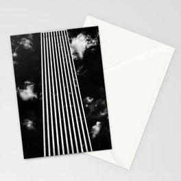 Silver Stripes Stationery Cards